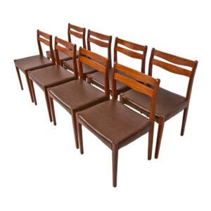 Set of 8 Danish Modern Dining Chairs