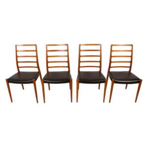 Set of 4 Danish Teak Niels Møller Dining Chairs