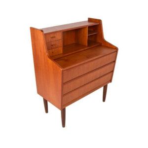 Compact Danish Teak Secretary Desk