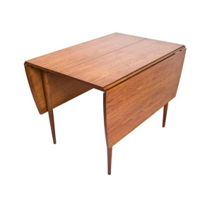 Mid Century Walnut Drop Leaf Expanding Dining Table