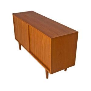 Compact Danish Modern Teak Sideboard