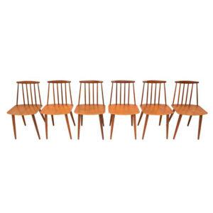 Set of 6 FDB Danish Modern Teak Chairs