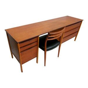 Long and Thin Danish Teak Modular Desk