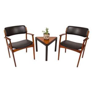 Pair of Rosewood Erik Buch Danish Modern Arm Chairs