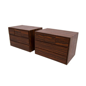 Pair of Rosewood Cassette Holders