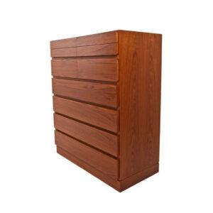 Danish Modern Organizer Tall Teak Dresser