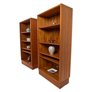 Pair of Hundevad Teak Compact Bookcases