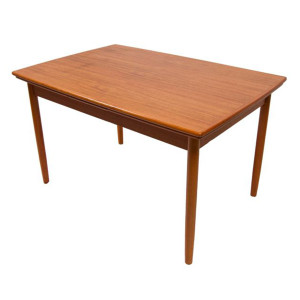 Compact Expanding Danish Teak Dining Table