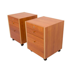 Pair of Versatile Danish Rolling Locking Tables
