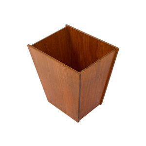 Danish Teak Accent Trash Can