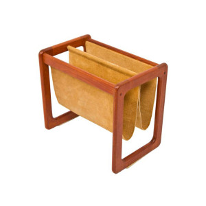 Danish Modern Teak Magazine Rack