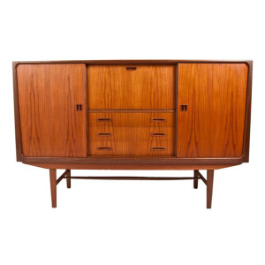 Teak Tall Highboard-Bar Cabinet