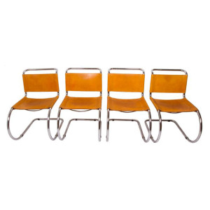 Set of 4 Mies van der Rohe Dining Chairs