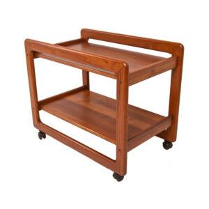 Large Danish Modern Teak Bar Cart