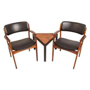 Pair of Danish Modern Erik Buch Rosewood Arm Chairs