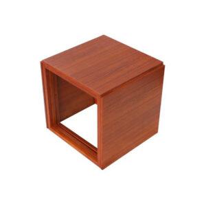 Kai Kristiansen Set of 3 Teak Cube Nesting Tables