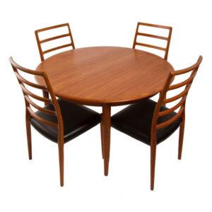 MOREDDI Danish Modern Teak Dining Table