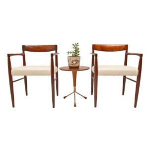 Rare Rosewood Accent Arm Chairs