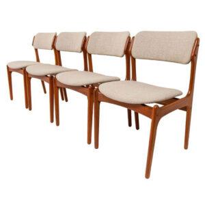 Set of 4 Erik Buch Danish Modern Teak Dining Chairs