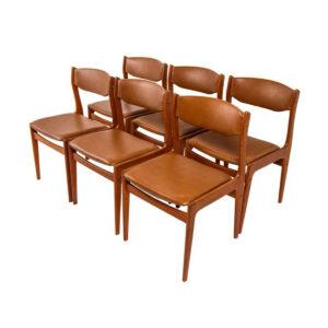 Set of 6 Danish Modern Teak Chairs