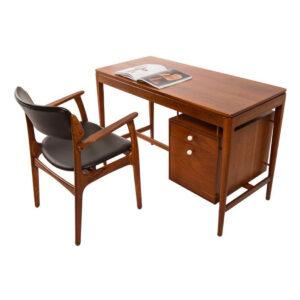 Drexel Declaration Line Floating Walnut Desk