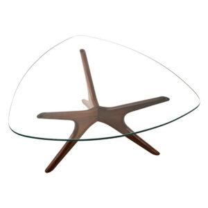 Adrian Pearsall Teardrop Glass Top Coffee Table