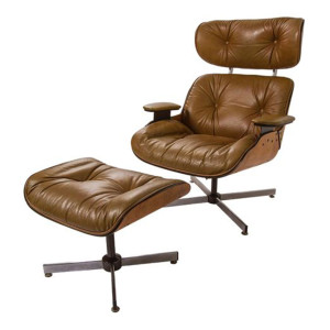 Mid Century Eames Style Chair and Ottoman