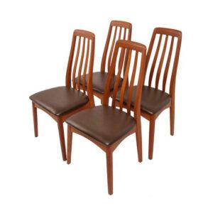 Set of 4 Swedish Teak Dining Chairs