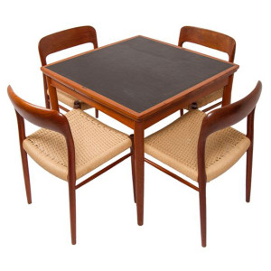 Teak Reversible Top Game Table