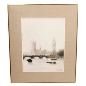 London Bridge Scene Artwork