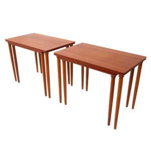 Pair of 2 Danish Teak Nesting Tables