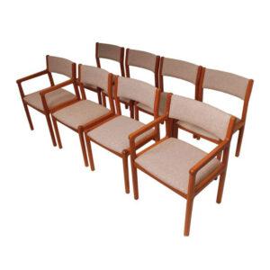 Set of 8 Niels Møller Danish Modern Teak Dining Chairs