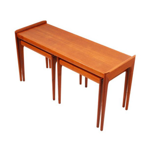 Selig Danish Teak Coffee Table with 2 Nesting Side Tables
