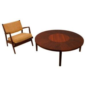 Rare Jens Risom Walnut Coffee Table