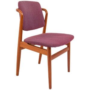 Rare Set of 8 Danish Modern Teak Dining Chairs