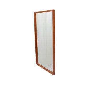 Danish Modern Teak Beveled Edge Mirror