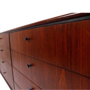 Walnut 12-Drawer Mid Century Dresser / Sideboard