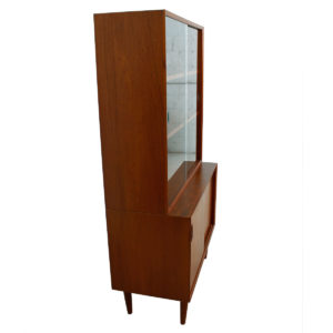 Danish Modern Teak 2 Pc. Display / Bar/ Storage Cabinet by Bornholm, Denmark