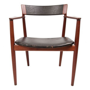 Danish Teak & Leather Dining Chair / Accent Chair