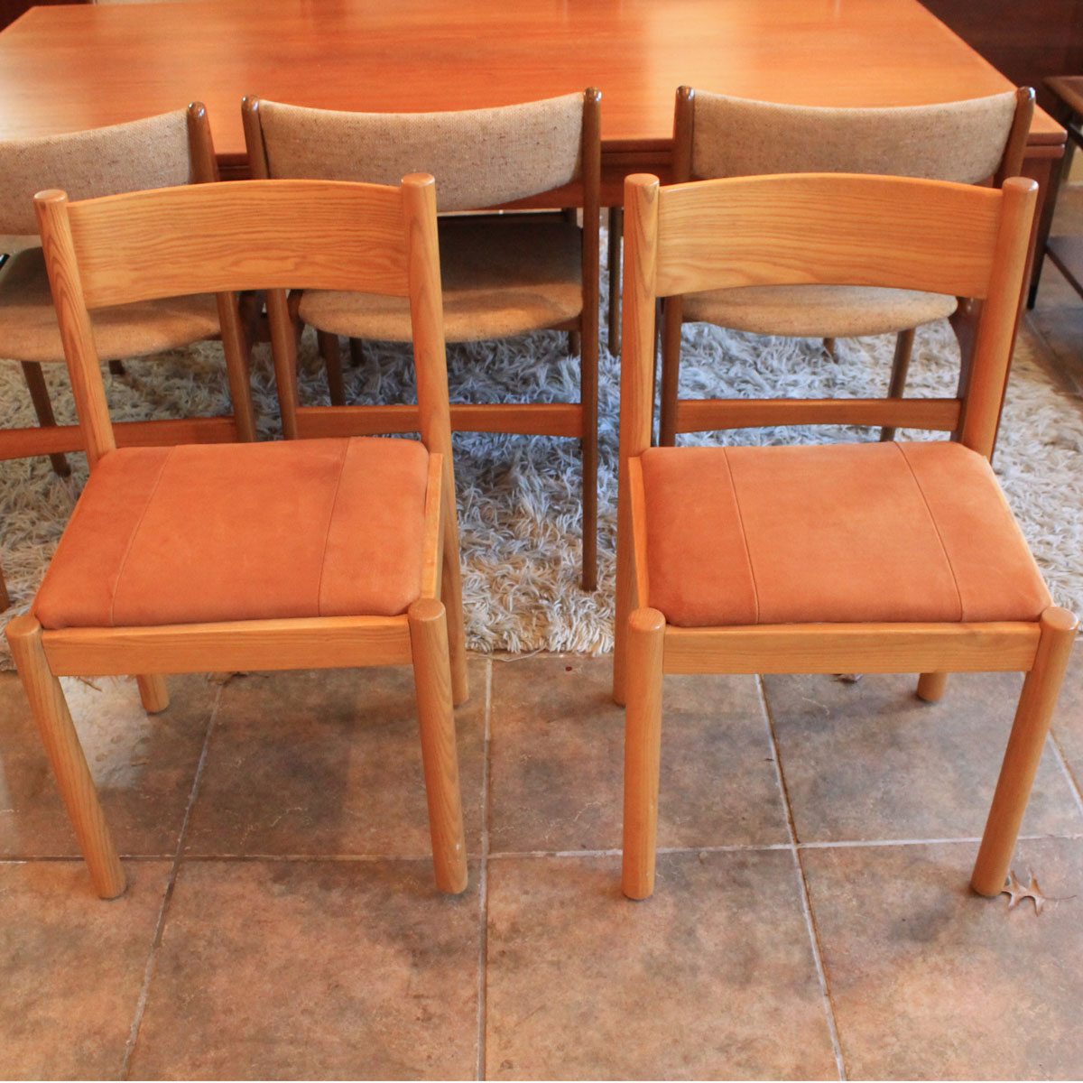 Accent Chairs Sold In Pairs.Pair Of Accent Chairs W Suede Seats