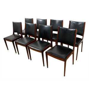 Set of 8 Danish Modern Rosewood Dining Chairs