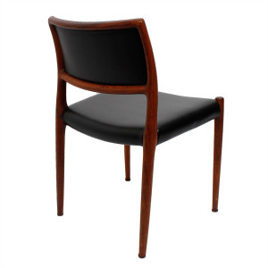 New Upholstery – Set of 4 Danish Rosewood Niels Moller #80 Dining Chairs
