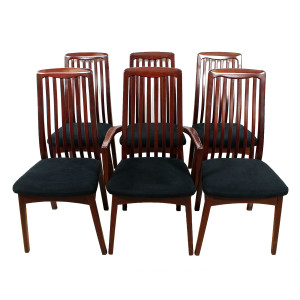 Set of 6 Danish Rosewood Dining Chairs