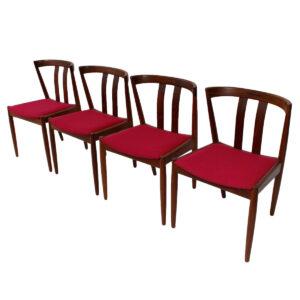 Set of 4 Danish Modern Walnut Dining Chairs