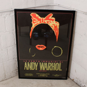 Vintage Andy Warhol Exhibition Poster