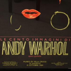 Vintage Andy Warhol Exhibition Poster