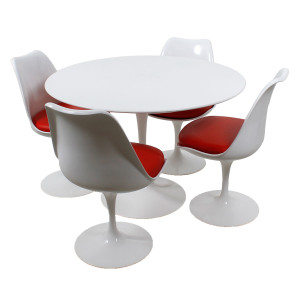 Knoll Tulip Dining Set w/ 4 Chairs