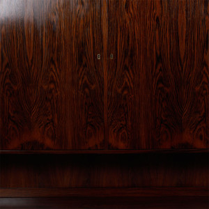 Danish Rosewood 2-Piece Storage / Bar Cabinet w/ Sexy Grain!
