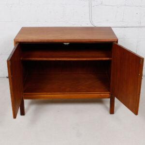 Vintage Walnut Storage / Bar Cabinet by Founders