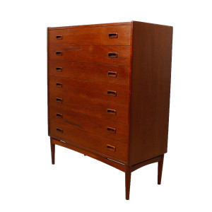 Thin Mogens Kold Danish Modern Teak Dresser / Chest